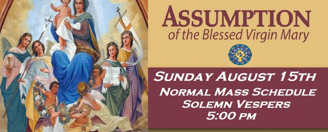 Holy Rosary Celebrates the Assumption