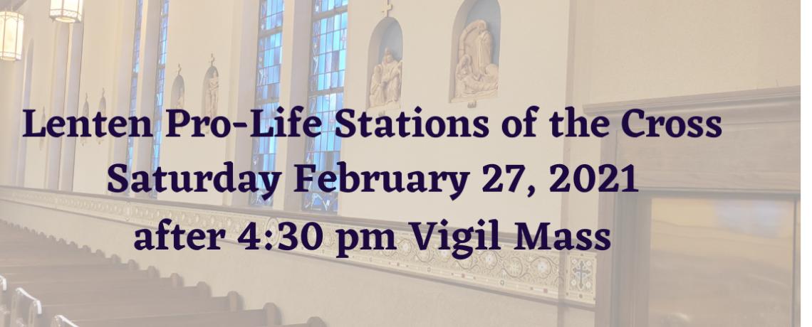 Lenten Pro-Life Stations of the Cross